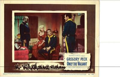 Only The Valiant 1951 Original Release Lobby Card Western Gregory Peck