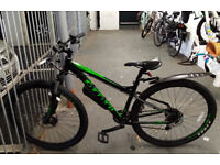 "Carrera Hellcat Mens Mountain Bike - 16"" Frame + U Lock"