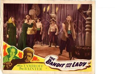 Bandit and the Lady 1945 Re-Release Lobby Card Akim Tamiroff ++