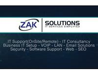 **IT Support for Home & Business** - Business IT Setup - Email - Web Development - SEO