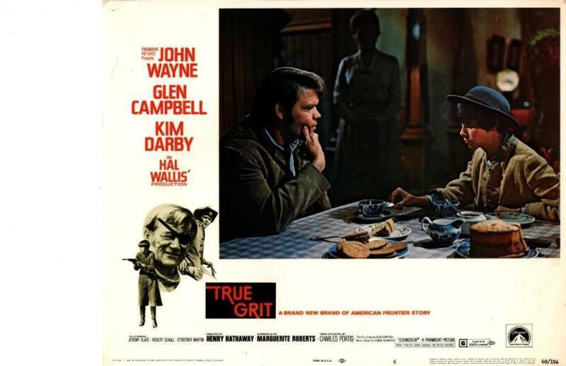 True Grit 1969 Original Release Lobby Card John Wayne Glen Campbell