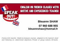 Speak Out ! French Lessons with native and experienced French Teacher.