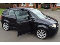 2003 AUDI A2 FSI SPORT BLACK VERY GOOD COND- PANORAMIC ROOF-AUDI SYMPHONY STEREO