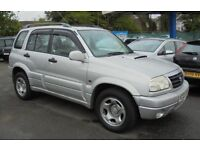 SUZUKI GRAND VITARA 1997cc AUTOMATIC TURBO DIESEL 4X4 5 DOOR 2002-02, SILVER, NEW MOT,