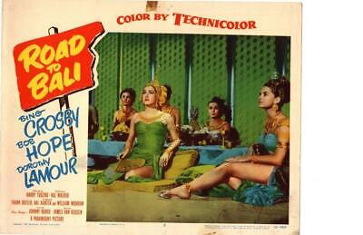 The Road To Bali 1952 Original Release Lobby Card Dorothy Lamour