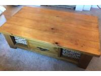 Solid Wood Coffee Table with Storage. From Next Home