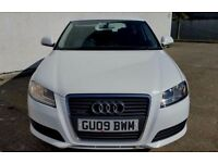 2009 AUDI A3 2.0 TDI QUATTRO SPORTBACK 170BHP WHITE 6 SPEED - FULL SERVICE HISTORY - PART EX WELCOME