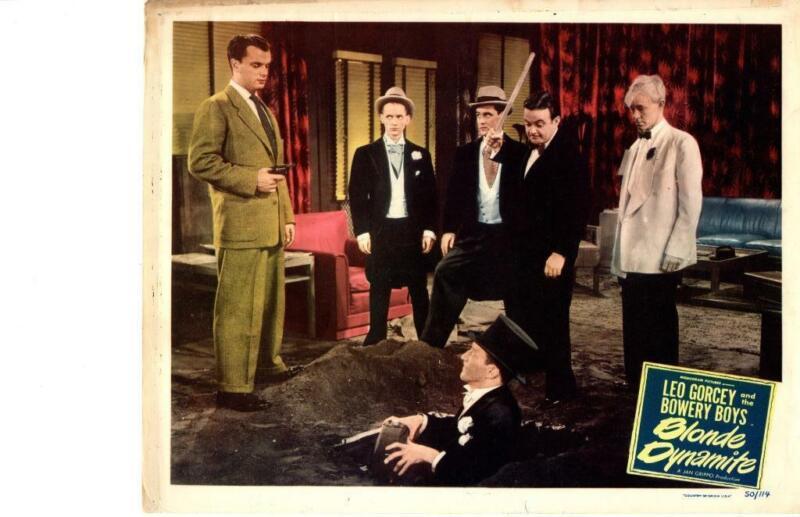 Blonde Dynamite 1950 Original Release Lobby Card Huntz Hall Bowery Boys