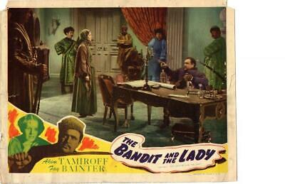 Bandit and the Lady 1945 Re-Release Lobby Card Akim Tamiroff