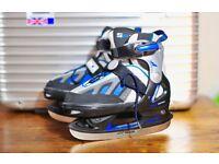 Ice skates, gloves and ice skates bag.