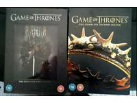 Games of Thrones Seasons 1 and 2 DVDs