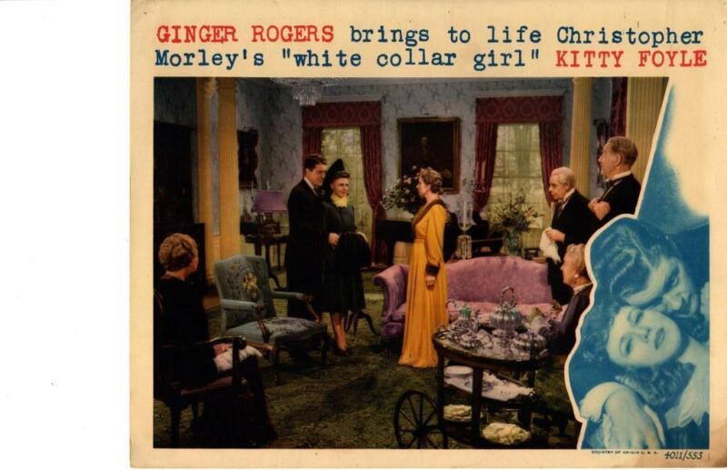 Kitty Foyle 1940 Original Release  Lobby Card Ginger Rogers James Craig