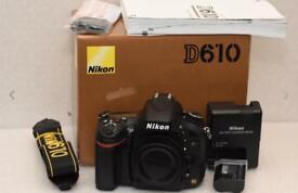 Nikon D610 24mp fx camera body only