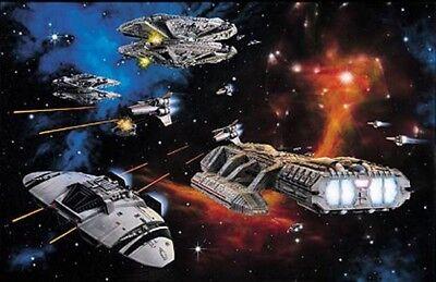 Battlestar Galactica 1978 Fine Art Lithograph Signed Richard Hatch 14PLS06