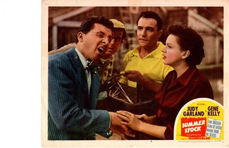 Summer Stock 1950 Original Release Lobby Card Musical Judy Garland Gene Kelly