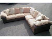 Free delivery/ DFS LARGE CORNER SOFA