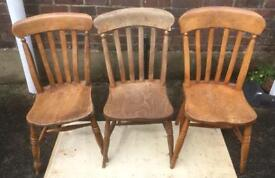 3 Farmhouse Chairs