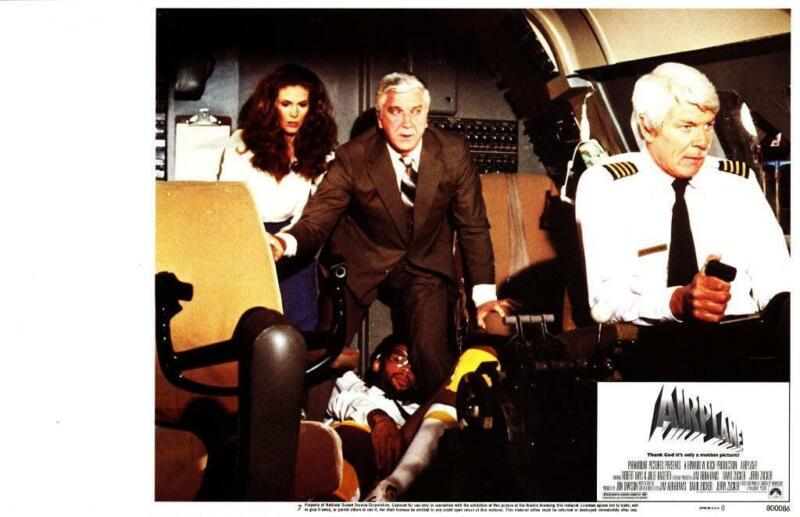 Airplane 1980 Original Release Lobby Card Kareem Abdul-Jabbar Leslie Nielsen