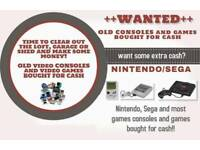 ++OLD GAMES CONSOLES and GAMES WANTED++