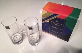 Brand New in Boxes 12 Dartington Crystal Exmoor Highball Glasses