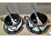 Very Rare Ceramic Gift Items Coffee Set Designed by Art Serving