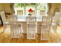 Quality Dining Table and 10 matching chairs
