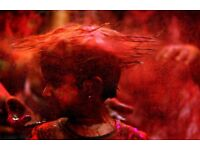 1 Kg Neon Red Holi Powder (for Holi festival, party, artistic creations/2 sets available)