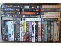 VHS videos for sale. 74 videos with certificates from 'U' to '18' for sale as a job lot. £20.