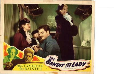 Bandit and the Lady 1945 Re-Release Lobby Card Akim Tamiroff +