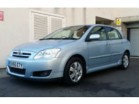 2005 55 TOYOTA COROLLA D-4D DIESEL 5DR, 66,000 MILES, 2 OWNRS, FULL HISTORY, CAMBELT DONE.