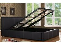 Leather Storage Bed Base Wi Mattress Choices And Color Option