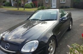 Mercedes SLK convertible for sale.