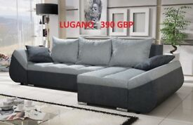 Corner sofa bed sofa bed UK STOCK 1-2 DAY DELIVERY Grey