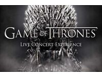 Game of thrones x2 concert tickets hydro. Face value.