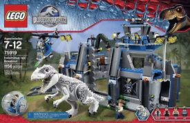 Lego Indominus Rex Breakout Set Rare Retired Complete Boxed