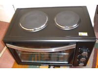 Tower T14014 Mini Oven Double Hotplates Rotisserie, only used 4 months
