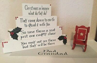 christmas in heaven block decoration