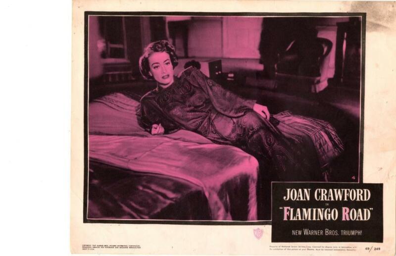 Flamingo Road 1949 Original Release Lobby Card Joan Crawford Greenstreet Curtiz