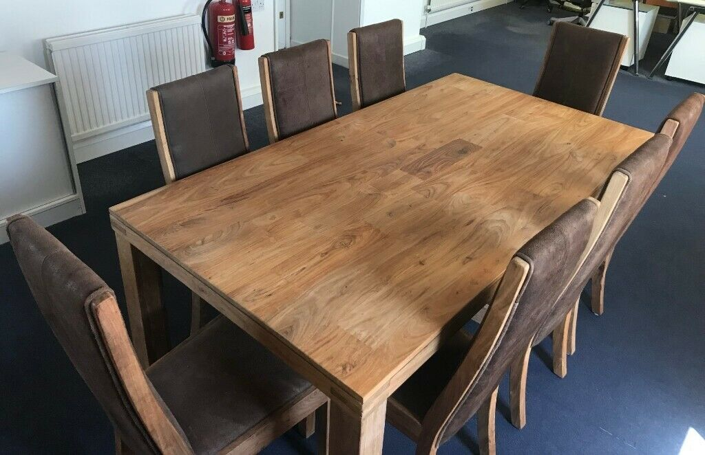 John Lewis Batamba Dining Room Solid Wood Table And 6 X Suede Chairs In Billericay Es Gumtree