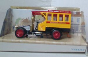 MATCHBOX-MODELS-OF-YESTERYEAR-Y44-1-ISSUE-2-1910-RENAULT-T45-BUS-Red-Roof