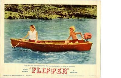 Flipper 1963 Original Release Lobby Card Chuck Connors ++