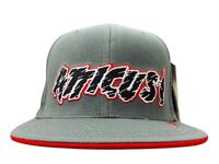 Grey Atticus Baseball Cap with red/black logo. New in packaging.