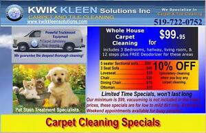 Carpet cleaning specials - Kitchener, Waterloo, Cambridge areas Kitchener / Waterloo Kitchener Area image 2
