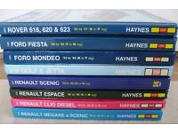 VARIOUS HAYNES etc MANUALS-MINI, ROVER, FIESTA, MEGANE & SCENIC, ESPACE & MONDEO - FROM £4 EACH ono