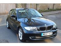 Black BMW 116. 2007 (57 Plate). 97400 miles. Excellent condition in and out. Full Service History.