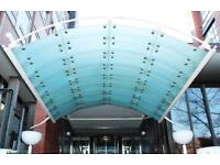 Large industrial entrance canopy