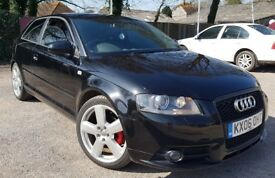 Audi A3 S-Line 2.0 Tdi Diesel,LOW MILEAGE 86k, 180bhp, Long MOT, well looked after with proof