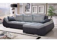 Corner sofa bed sofa bed UK STOCK 1-5 DAY DELIVERY Lugano Grey