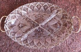 Cut Glass Serving Dish