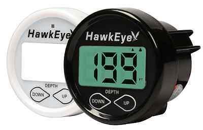 HawkEye In Dash Depth Finder/Sounder - Transom Mount OR Glue In-Hull Transducer